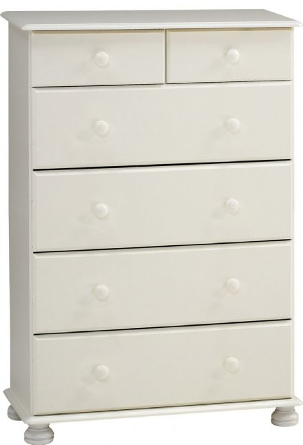 RICHMOND 2+4 DEEP DRAWER CHEST WHITE
